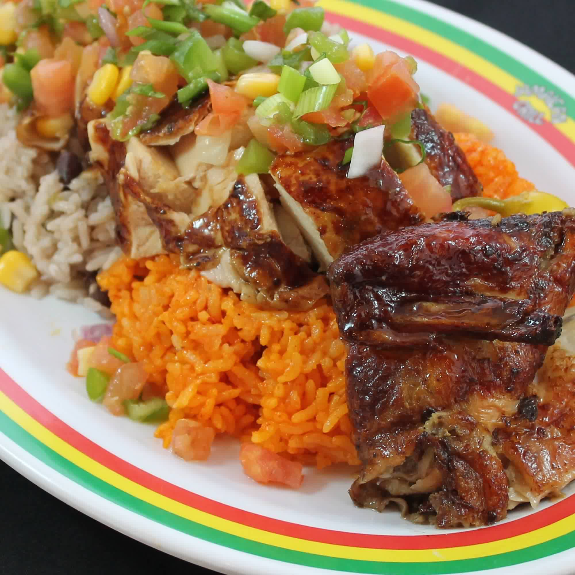 """Jerk"" Chicken Rice Salad"